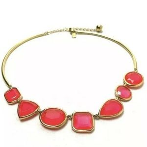 Kate Spade ♠️ Vegas Cabaret Pink Collar Necklace